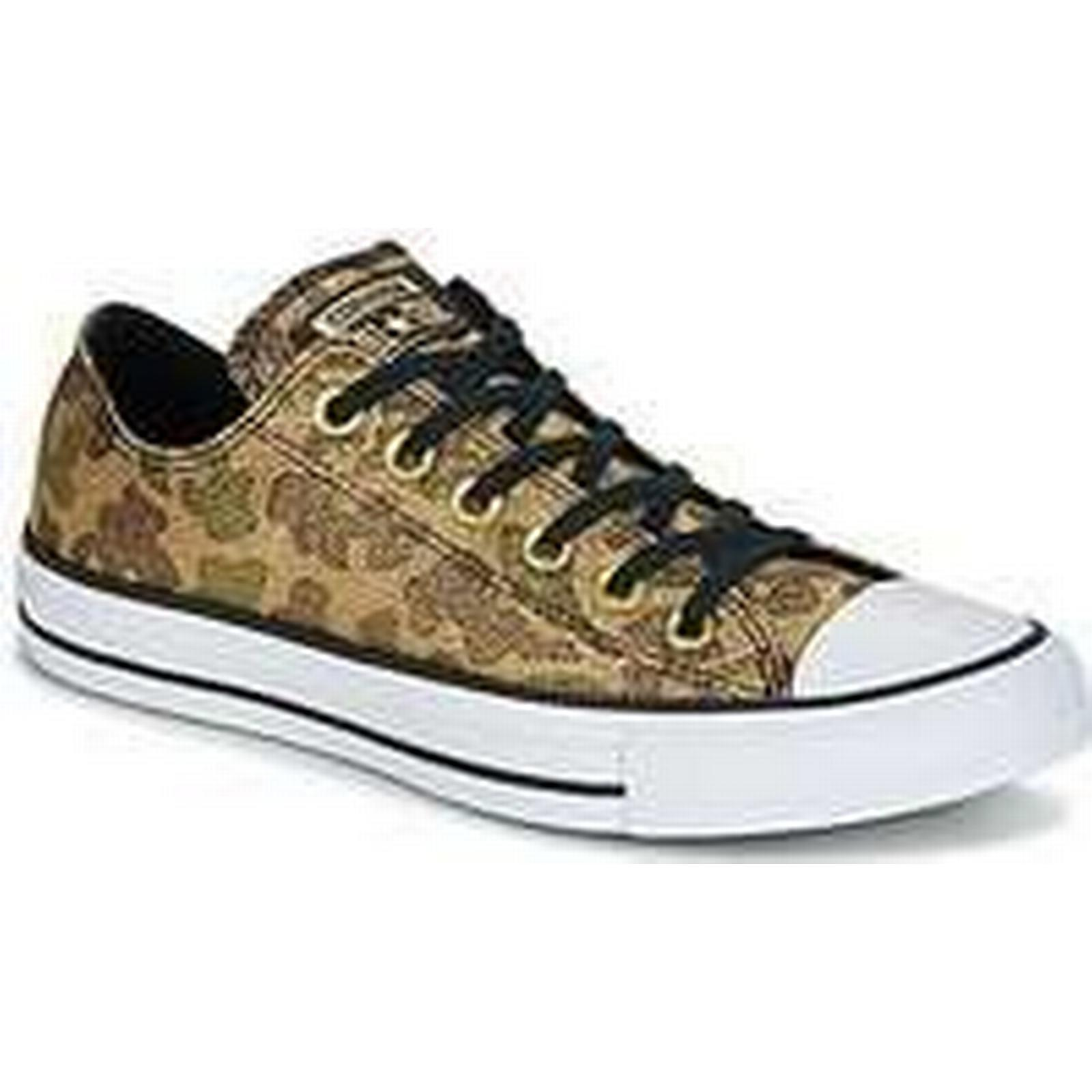 Spartoo.co.uk Converse Chuck Taylor Camo All Star Ox Lurex Camo Taylor women's Shoes (Trainers) in Gold 68d2e3