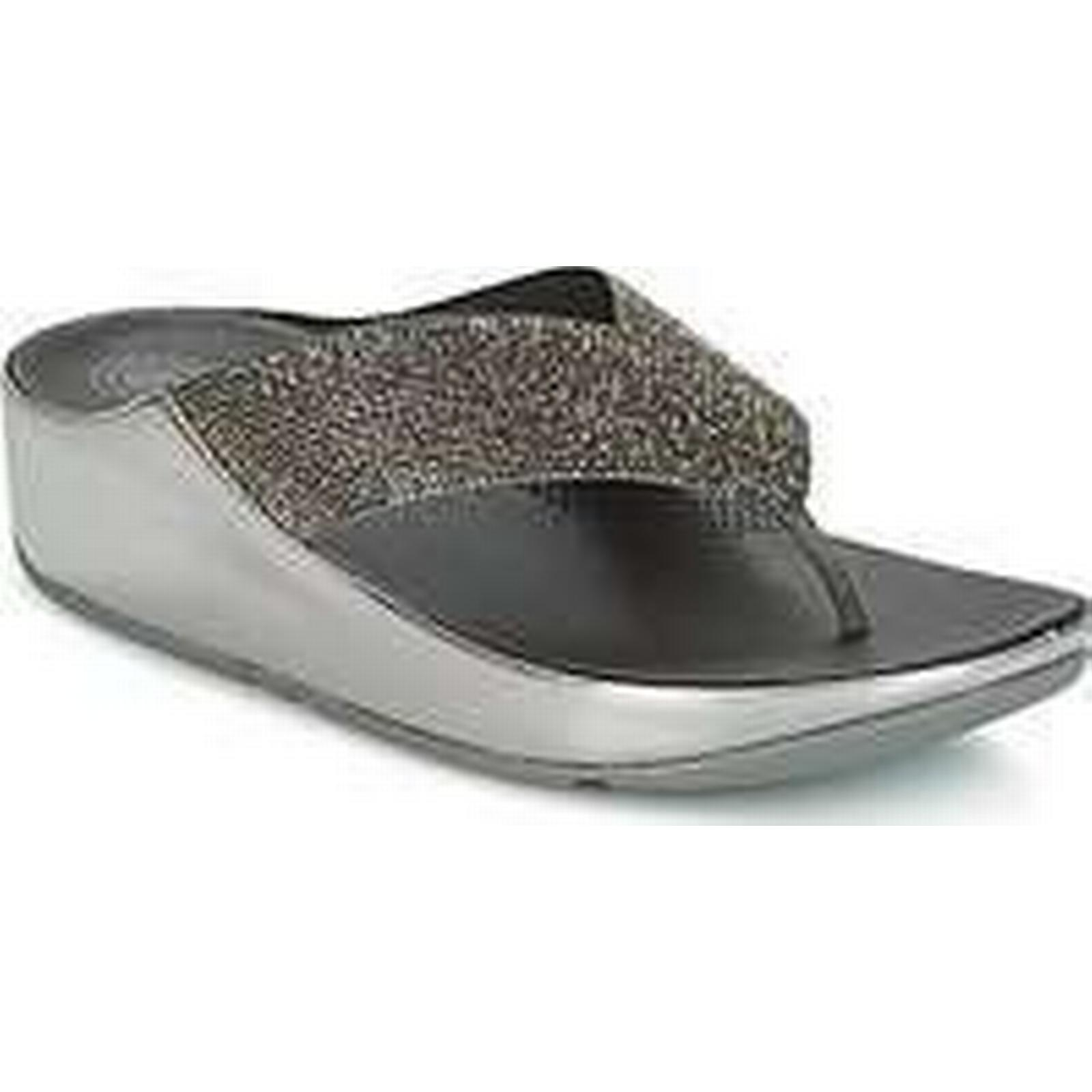 Spartoo.co.uk FitFlop CRYSTALL Shoes women's Mules / Casual Shoes CRYSTALL in Silver 635195