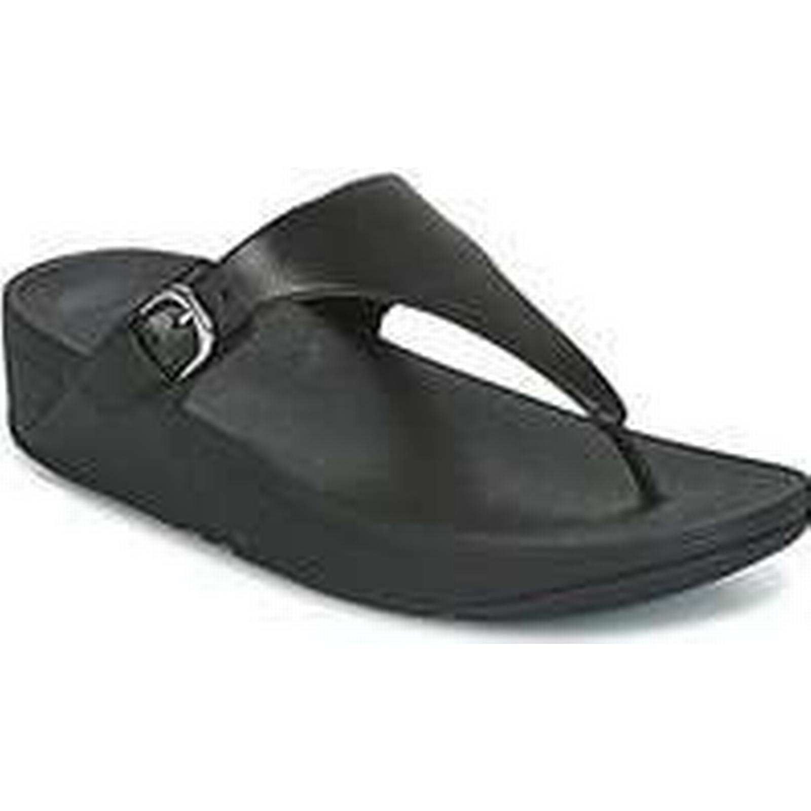 Spartoo.co.uk Shoes FitFlop SKINNY TOE-THONG women's Shoes Spartoo.co.uk (Trainers) in Black c18bb8