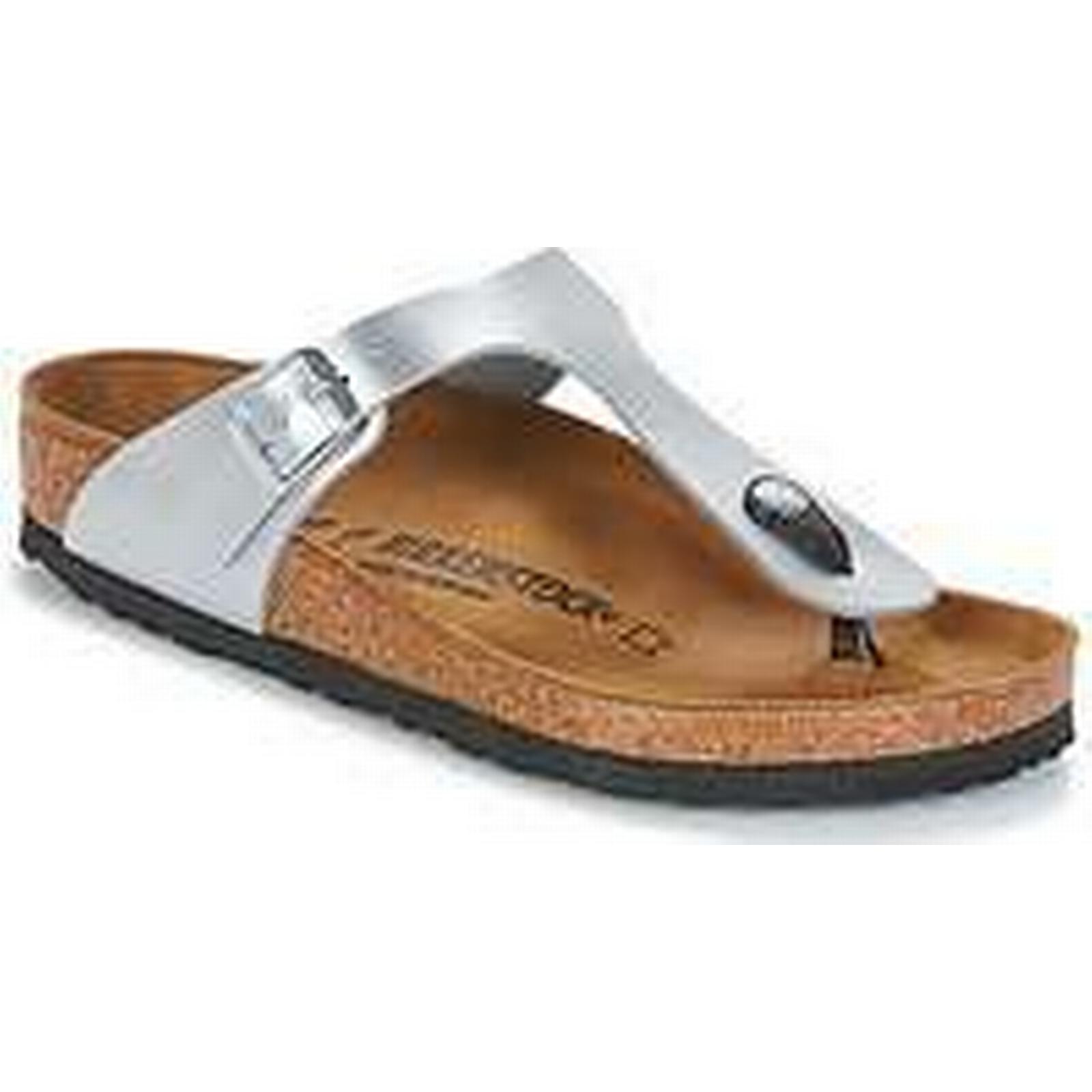 Spartoo.co.uk Birkenstock / GIZEH women's Flip flops / Birkenstock Sandals (Shoes) in Silver 64d9bf