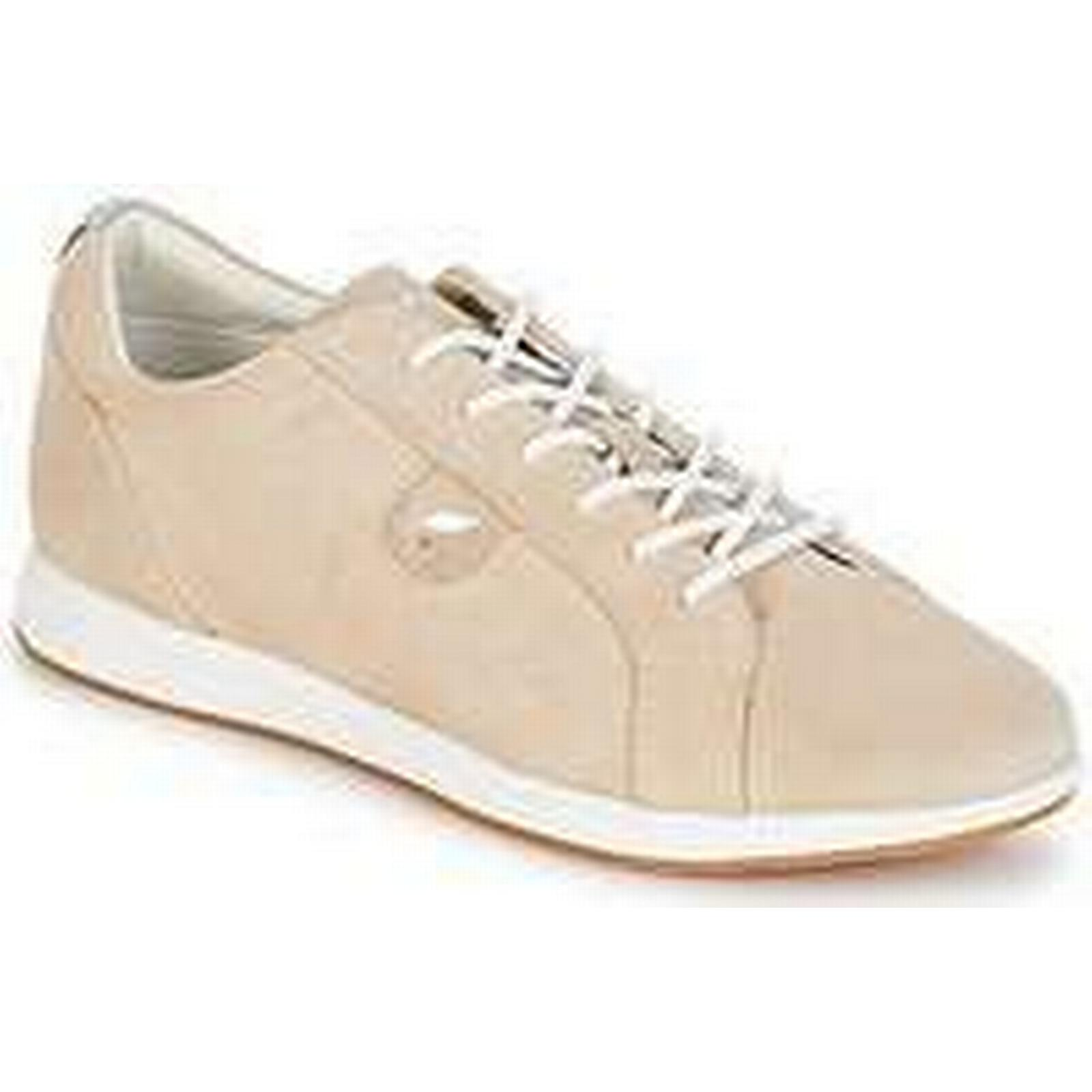 Spartoo.co.uk Geox D AVERY A Beige women's Shoes (Trainers) in Beige A 5f0ed8