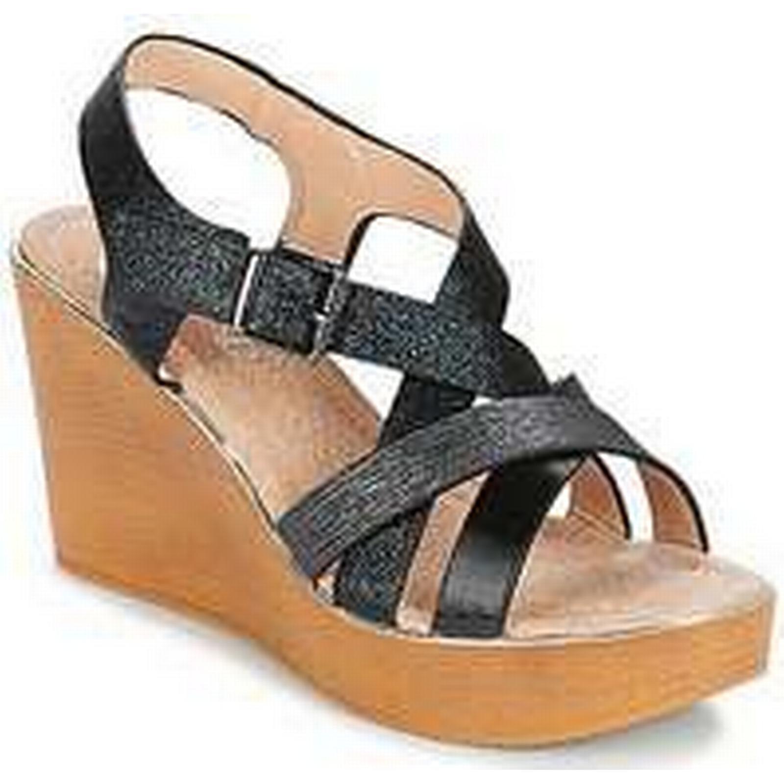 Spartoo.co.uk Cassis Côte d'Azur NAOMY Black women's Sandals in Black NAOMY 3f3c2c
