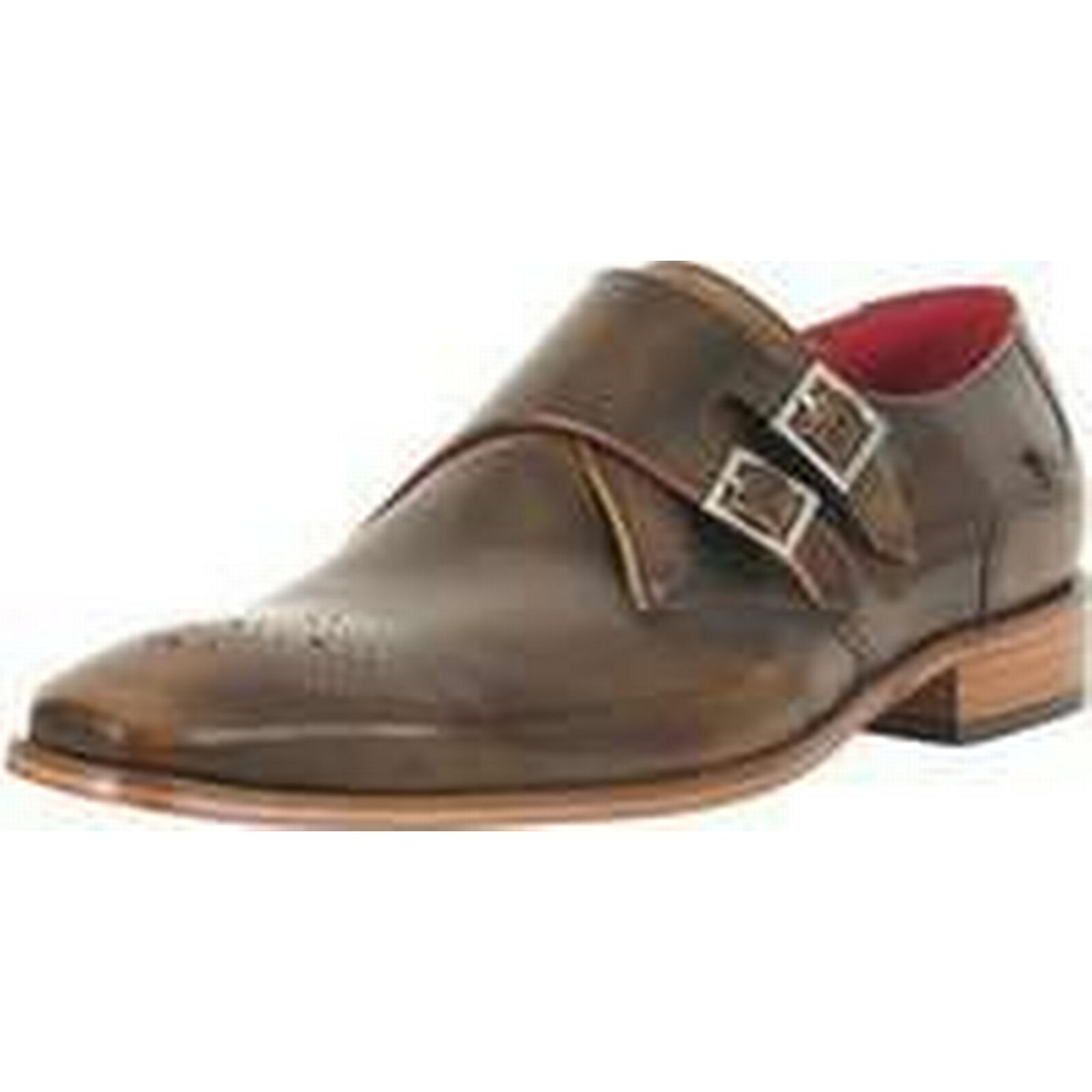 Spartoo.co.uk men's Jeffery-West Men's Scarface Polished Leather Shoes, Brown men's Spartoo.co.uk Casual Shoes in Brown db0530