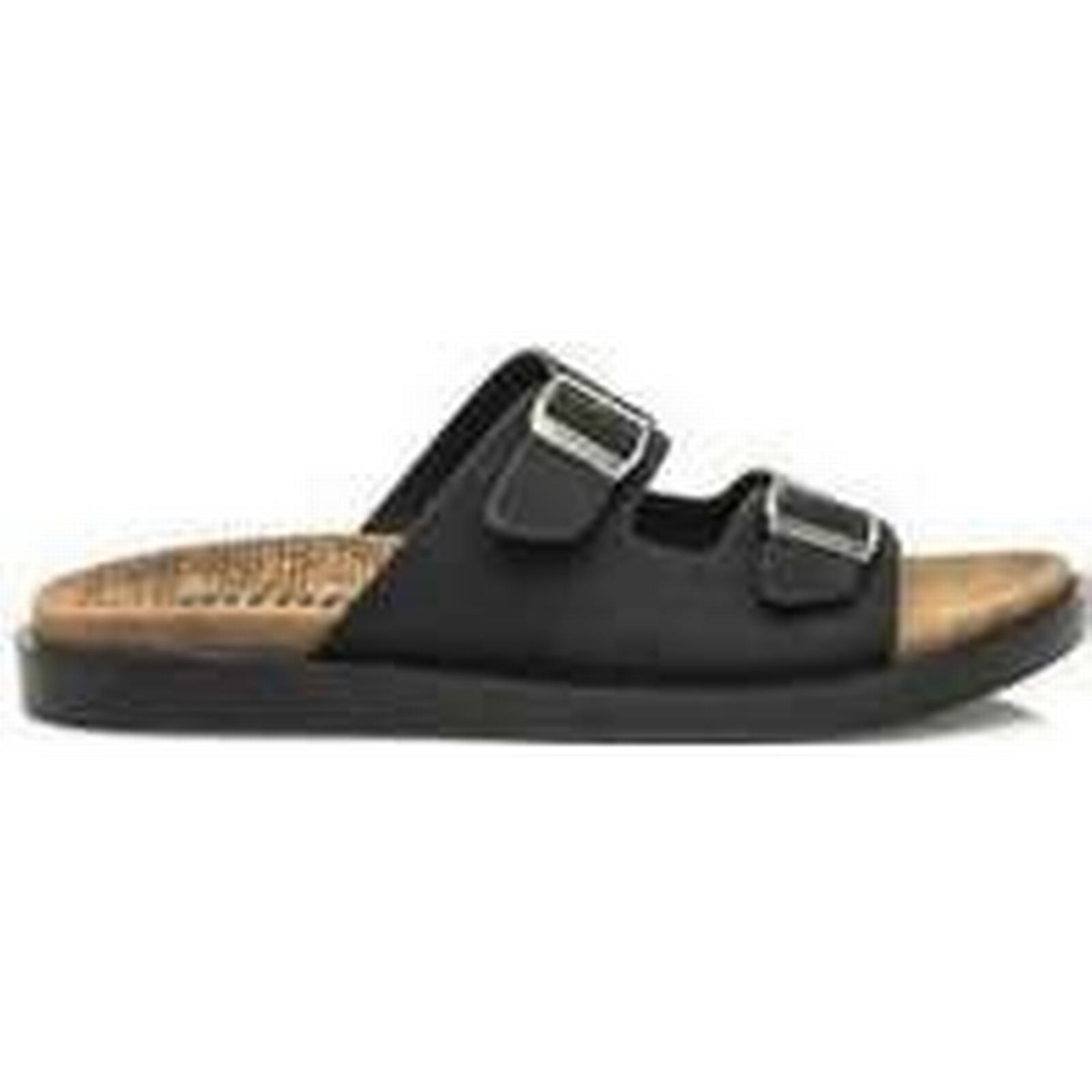 Spartoo.co.uk / MTNG CHANCLA X8-BLACK / VERTIGO TAN men's Mules / Spartoo.co.uk Casual Shoes in Black 56083f