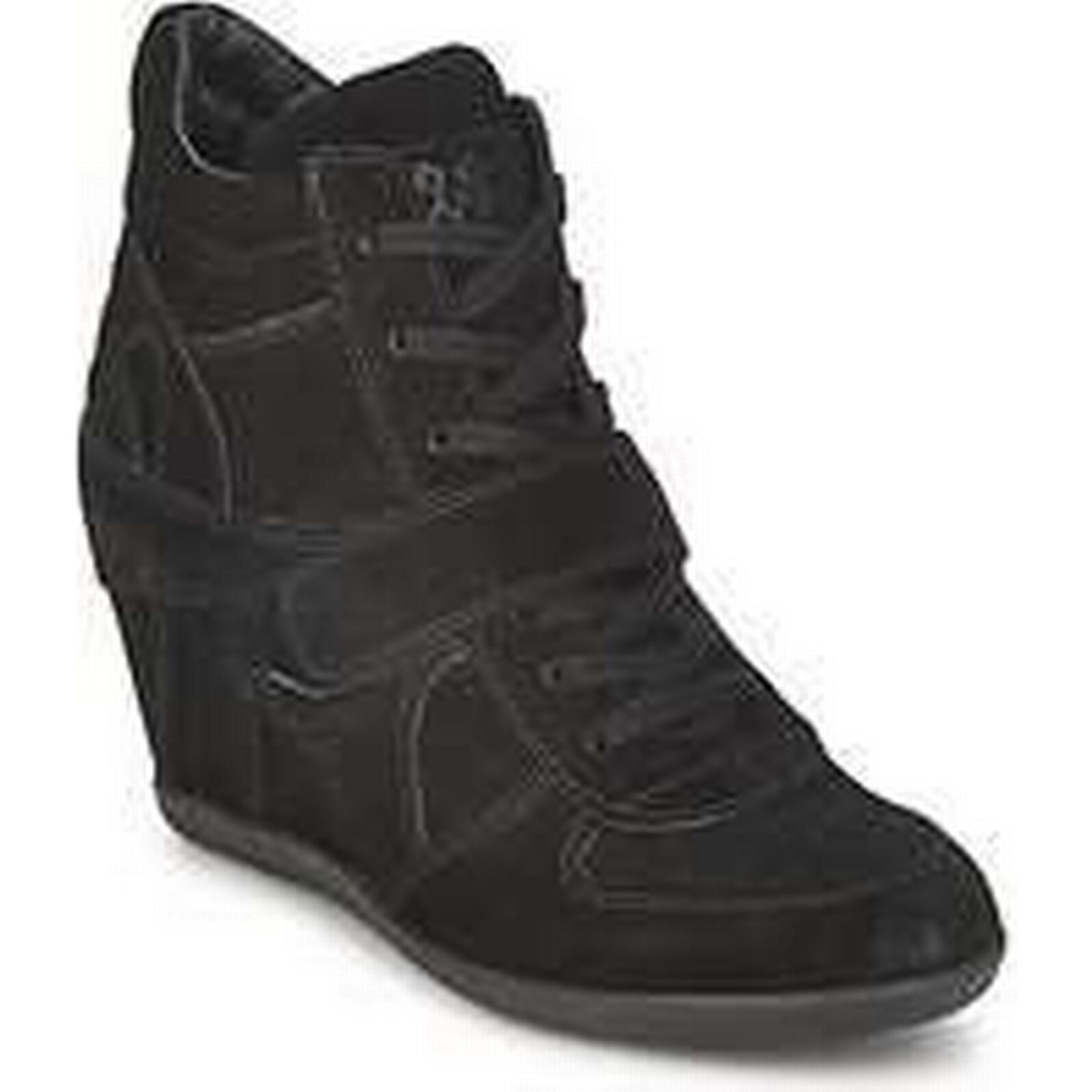 Spartoo.co.uk Ash BOWIE women's Shoes Black (High-top Trainers) in Black Shoes a4ef88