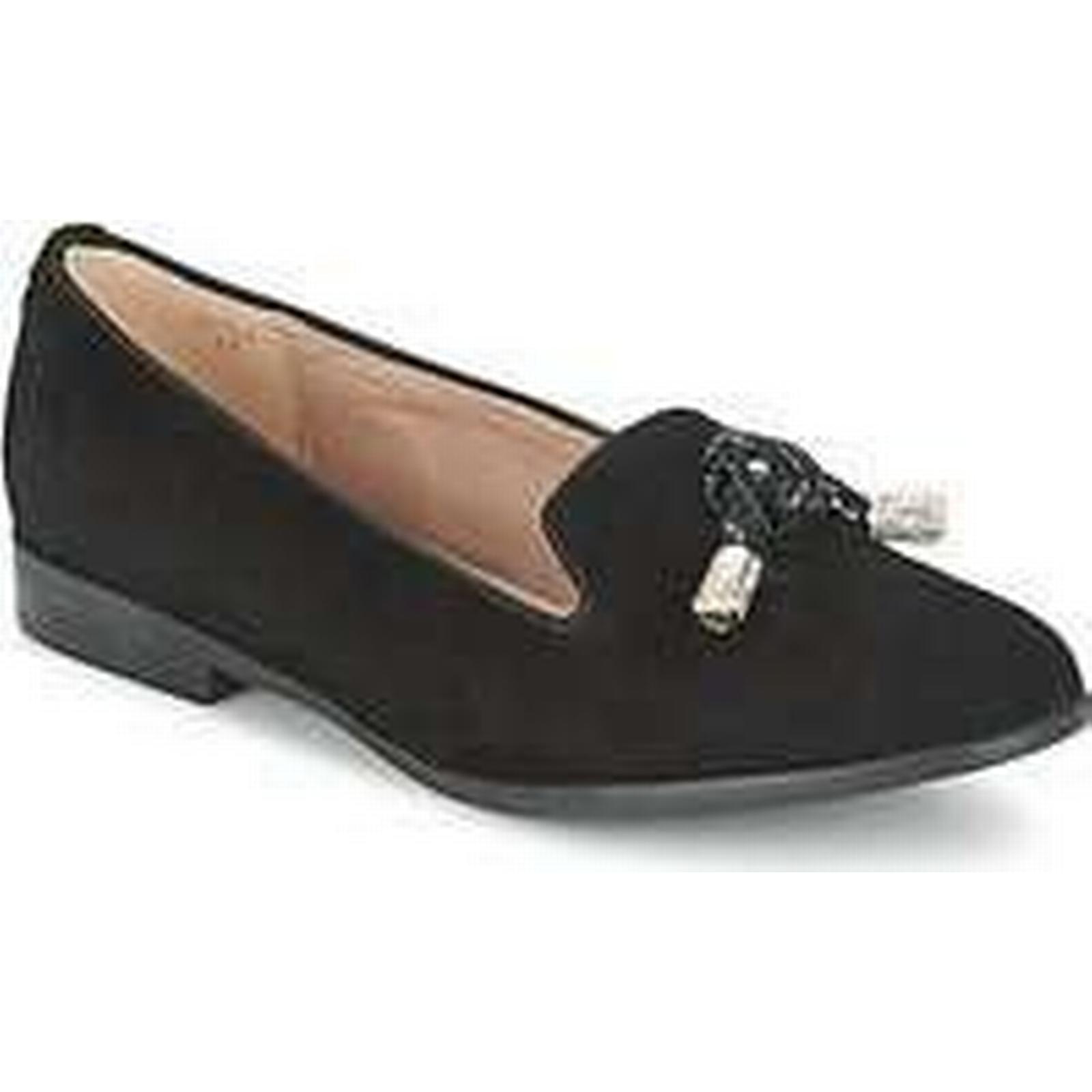 Spartoo.co.uk Moda In Pelle Casual ENOLA women's Loafers / Casual Pelle Shoes in Black 49e1a9