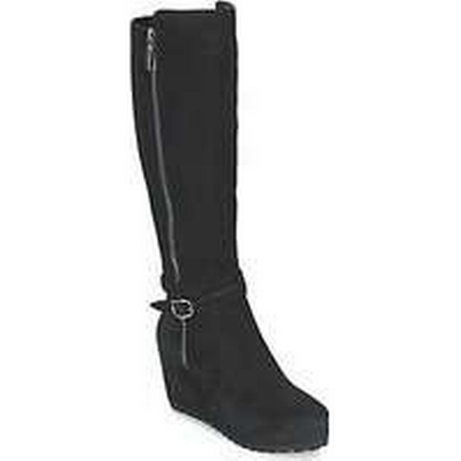 Spartoo.co.uk Moda In Boots Pelle SITA women's High Boots In in Black abd2d1