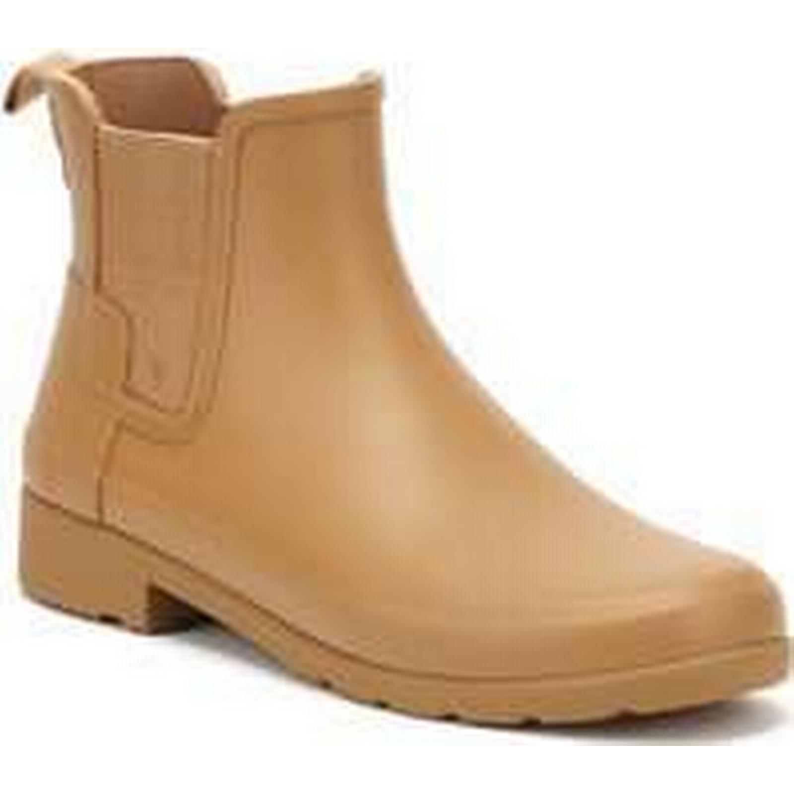 spartoo.co.uk original hunter original spartoo.co.uk  s brun pâle chelsea bottes femmes & #   raffinés; s faible bottines dans Marron  43c52b