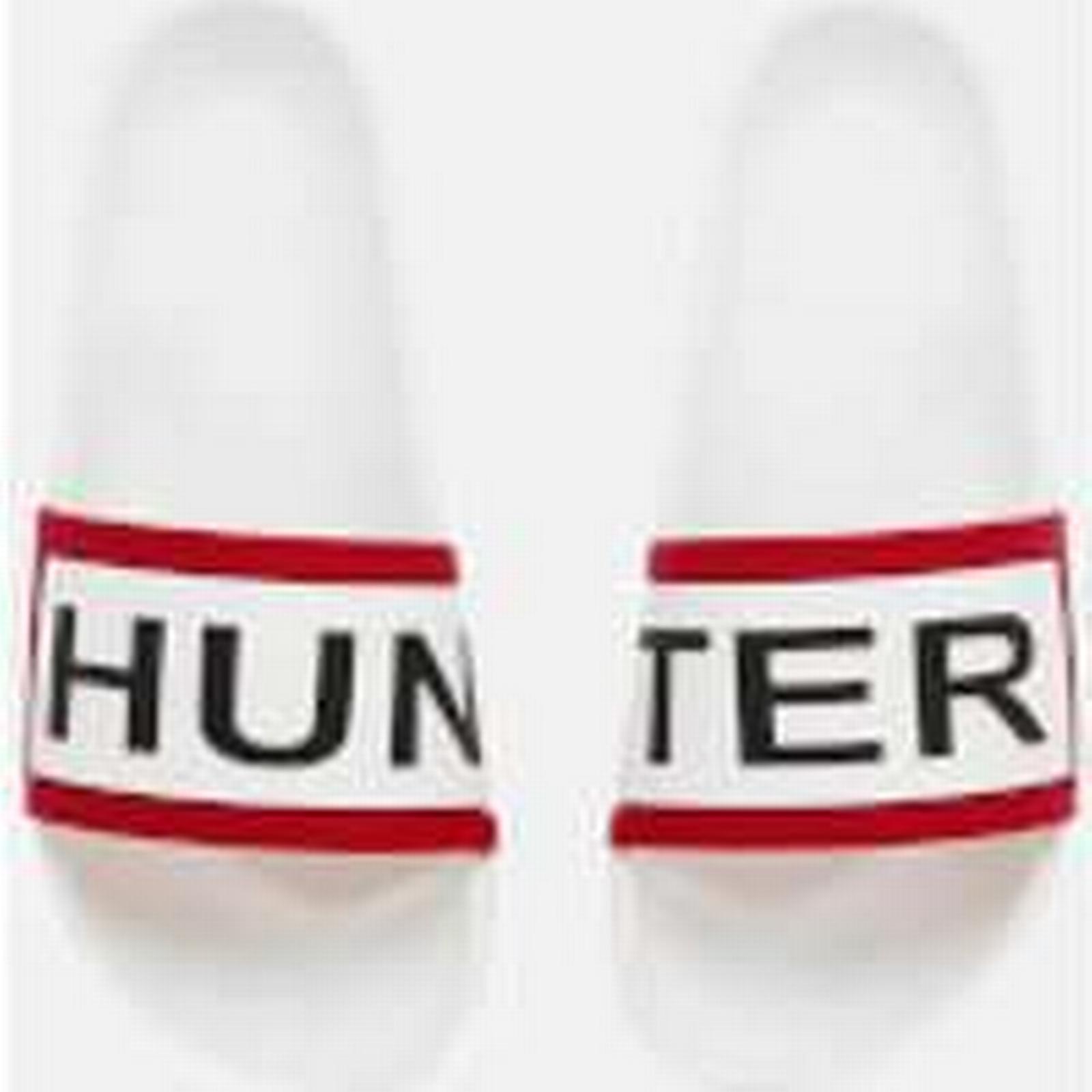 Hunter Women's Slide Sandals - - White - UK 5 - Sandals White 65f7d4