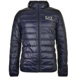 Jackor Herrkläder Emporio Armani Bubble Hood Logo Coat - Night Blue