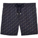 Badshorts Herrkläder Vilebrequin Moorea Micro Ronde Des Tortues Swim Shorts Navy