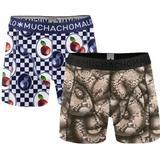 Herrkläder Muchachomalo Forbidden Fruits Boxershorts 2-pack - Black/Blue