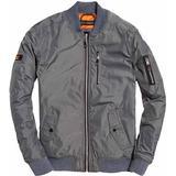 Jackor Herrkläder Superdry SDR Wax Flight Bomber Jacket Bullet Grey