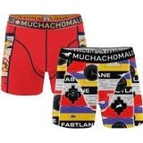 Herrkläder Muchachomalo Live The Fastlane Boxershorts 2-pack Red Pattern