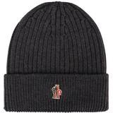 Mössa Herrkläder Moncler Grenoble Logo Beanie Hat - Charcoal