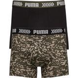 Herrkläder Puma Abstract Camo Basic Boxer Shorts 2-pack - Green/Black