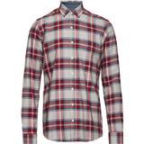 Herrkläder Signal Pelle Oxford Classic Check Shirt - Red Shiraz