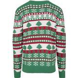 Jultröja Herrkläder Urban Classics Snowflake Christmas Tree Sweater - Tree Green /White /Fire Red