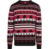 Jultröja Herrkläder Urban Classics Snowflake Christmas Tree Sweater - Black/ Fire Red/ White