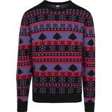 Jultröja Herrkläder Urban Classics Snowflake Christmas Tree Sweater - Ultra Violet /Black/ Fire Red