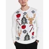 Jultröja Herrkläder Solid Timon - Off White