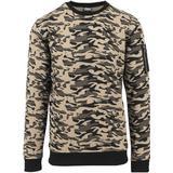 Sweatshirt Herrkläder Urban Classics Sweat Camo Bomber Crew - Wood Camo