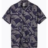 Kortärmad Skjorta Herrkläder Minimum Emanuel Short Sleeved Shirt - Navy Blazer