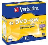 Verbatim DVD+RW 4.7GB 4x Jewelcase 5-Pack
