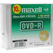 Maxell DVD-R 4.7GB 16x Slimcase 10-Pack
