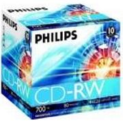 Philips CD-RW 700MB 12x Jewelcase 10-pack