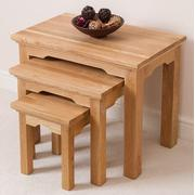 Aspen Solid Oak Nest of 3 Tables