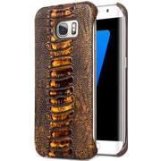 Qialino Ostrich Leg Pattern Leather Case (Galaxy S7 Edge)