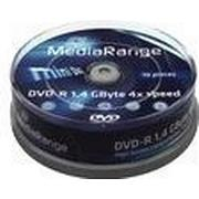 MediaRange DVD-R 1.4GB 4x Spindle 10-Pack 8cm
