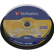 Verbatim DVD+RW 4.7GB 4x Spindle 10-Pack