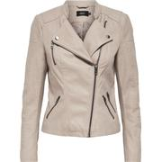 Only Leather Look Jacket Grey/Pure Cashmere (15102997)