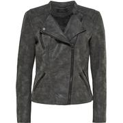 Only Leather Look Jacket - Grey/Phantom