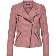 Only Leather Look Jacket Pink/Ash Rose (15102997)