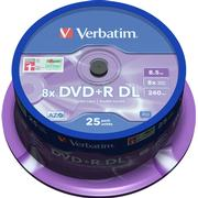 Verbatim DVD+R 8.5GB 8x Spindle 25-Pack