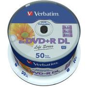 Verbatim DVD+R 8.5GB 8x Spindle 50-Pack Inkjet