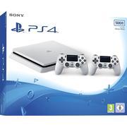 Sony Playstation 4 Slim 500GB - White Edition - 2x DualShock 4 V2