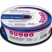 MediaRange CD-R White 700MB 52x Spindle 25-Pack Wide Inkjet