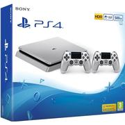 Sony Playstation 4 Slim 500GB - Silver - 2x DualShock 4 V2