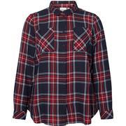 Junarose Checked Shirt Blue/Navy Blazer (21006611)
