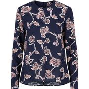 Y.A.S Floral Long Sleeved Top Blue/Night Sky (26008144)