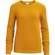 Vila Knitted Blouse Yellow/Nugget Gold (14043285)