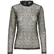 Selected Lace Long Sleeved Top Black/Black (16059395)