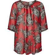Junarose Flowered Tunic Red/Deep Claret (21006589)