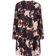 Y.A.S Floral Long Sleeved Dress Blue/Mahogany Rose (26008138)