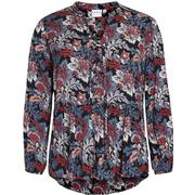 Junarose Flower Printed Long Sleeved Blouse Black/Black Beauty (21006843)