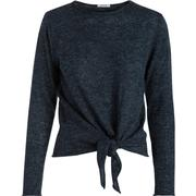 Pieces Long Sleeved Wool Blouse Blue/Navy Blazer